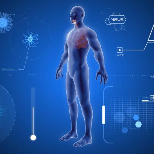3Д сканер тела (композ) - динамическая инфографика 3d, создание анимационных видеороликов, анимационные ролики, графический рекламный ролик